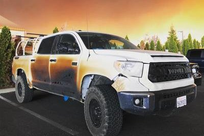 Toyota Moves to Replace the Tundra Pickup Burned During a Heroic California Wildfire Rescue