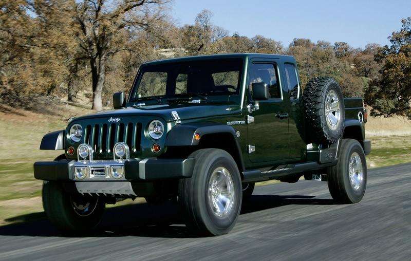 Visual Comparison Between the 2020 Jeep Gladiator and the 2005 Jeep Gladiator Concept