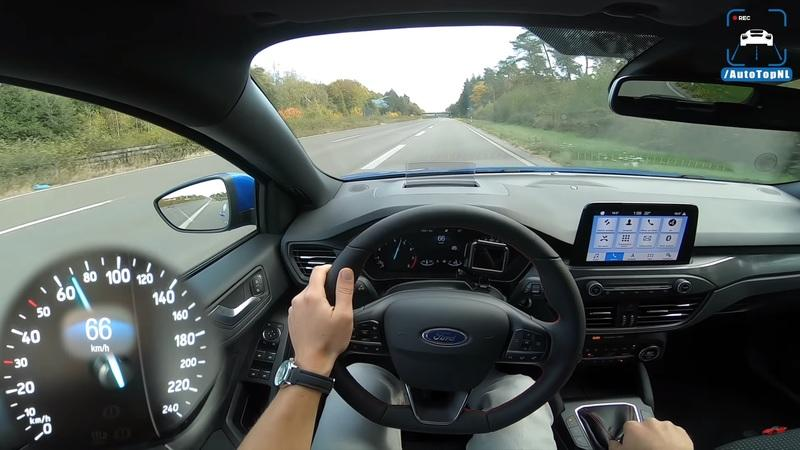 Watch the 2019 Ford Focus ST-Line Make a Top Speed Run on the Autobahn