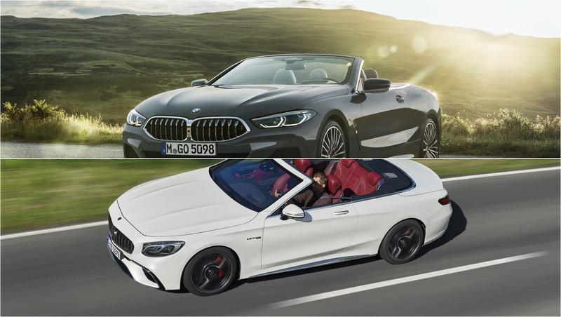 2019 BMW 8 Series Convertible vs 2019 Mercedes-AMG S63 Cabriolet