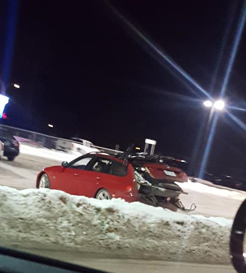 A Snowmobile in the Back of a BMW 3 Series is Proof We Need More Wagons