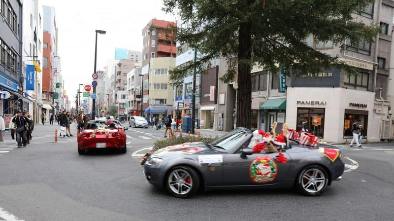 Check Out Dozens Of Miatas Ready To Spread Joy and Gifts in Japan