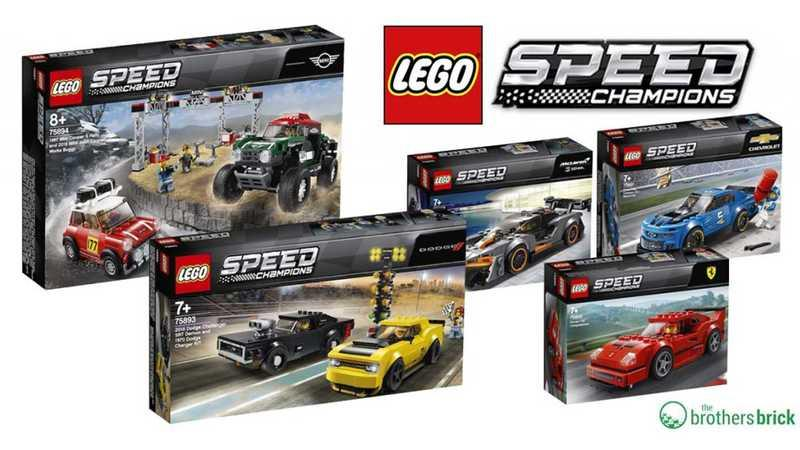 LEGO's 2019 Speed Champions Lineup is Loaded With Pony Cars and Exotics