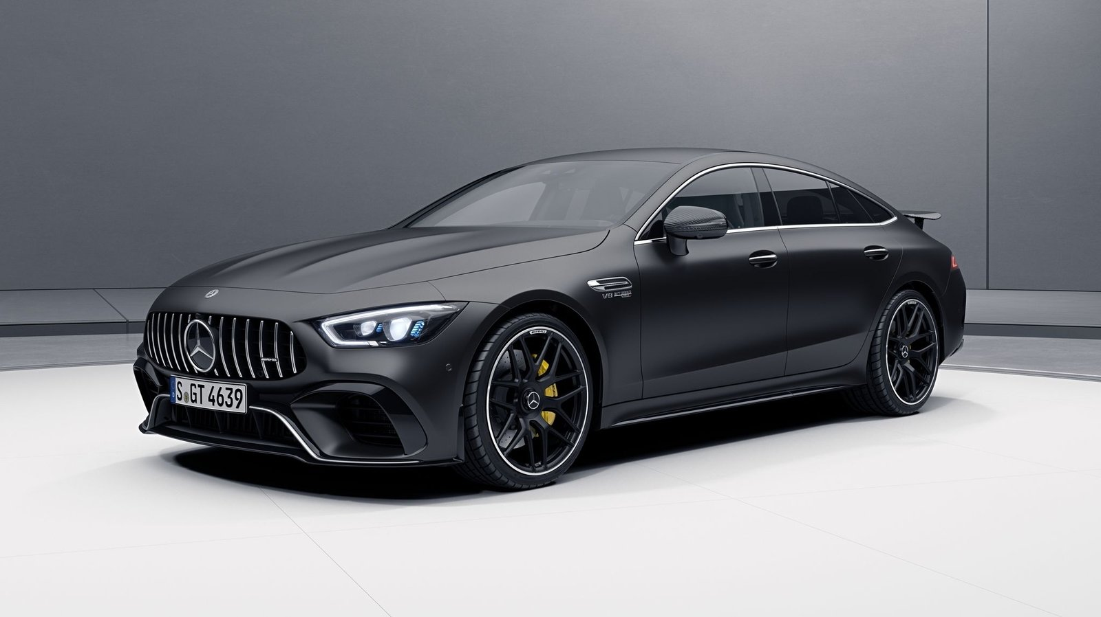 the mercedes amg gt 4 door coupe now offered with aero kit. Black Bedroom Furniture Sets. Home Design Ideas