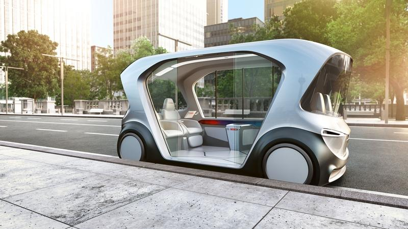 This Funky Little Electric People Mover from Bosch Will Debut at the Consumer Electronics Show