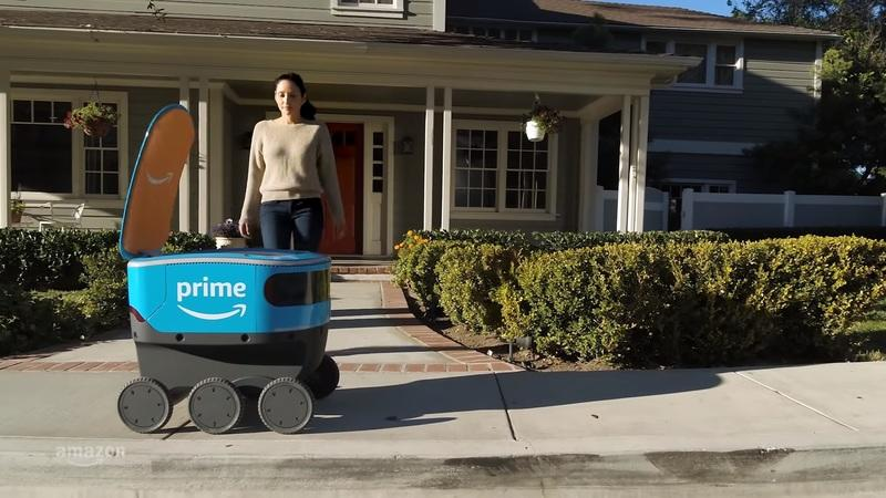Check Out This Cool But Creepy Amazon Delivery Robot