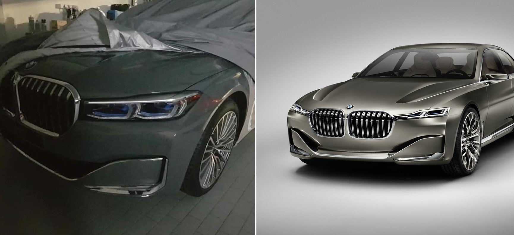 If This Leak Shows The 2019 Bmw 7 Series Facelift It Looks A Lot