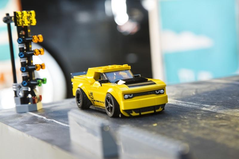 LEGO and Dodge's Latest Collaboration Gives Our Mini Figs a Pair of Pony Cars to Play Around With