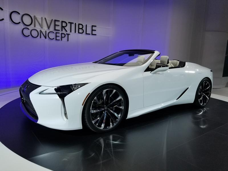 Lexus LC Debuts At The 2019 Detroit Auto Show In A Topless Avatar