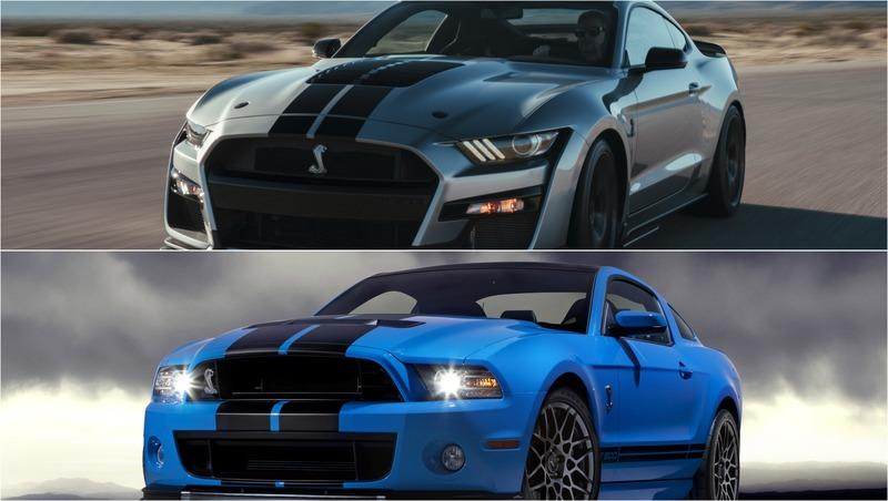Quick Comparo: 2020 Shelby GT500 vs. 2013 GT500