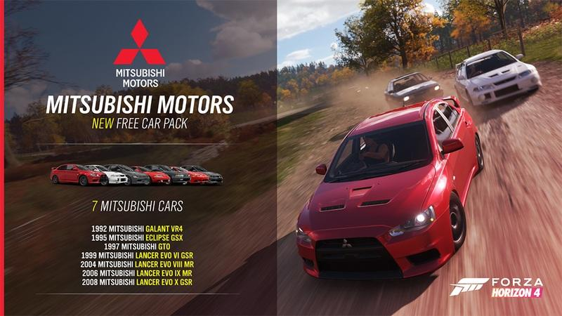 Rejoice, Mitsubishi Fans! Turn 10 Studios' Mitsubishi Pack for Forza Horizon 4 is an Evolution Overload!