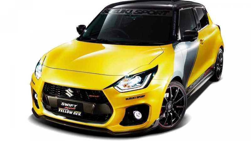 Suzuki Swift Sports Yellow Rev Looks Ready to go Racing