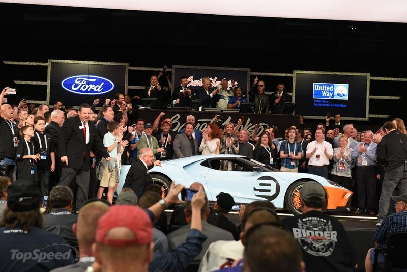 The First 2019 Ford GT Heritage Edition Beat the 2020 Ford Mustang Shelby GT500 and 2020 Toyota Supra at Auction