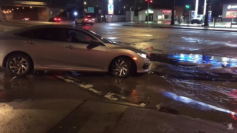 There's a Pretty Gnarly Pot hole in Los Angeles