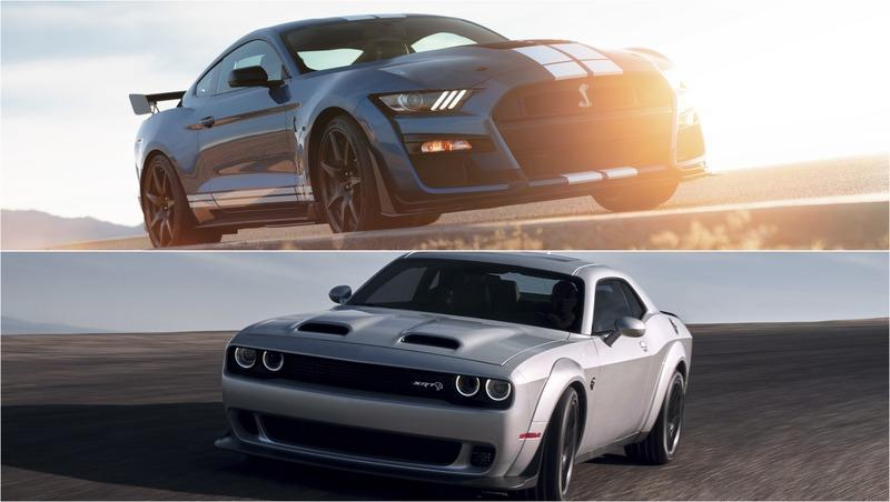 2020 Ford Mustang Shelby GT500 vs 2019 Dodge Challenger SRT Redeye