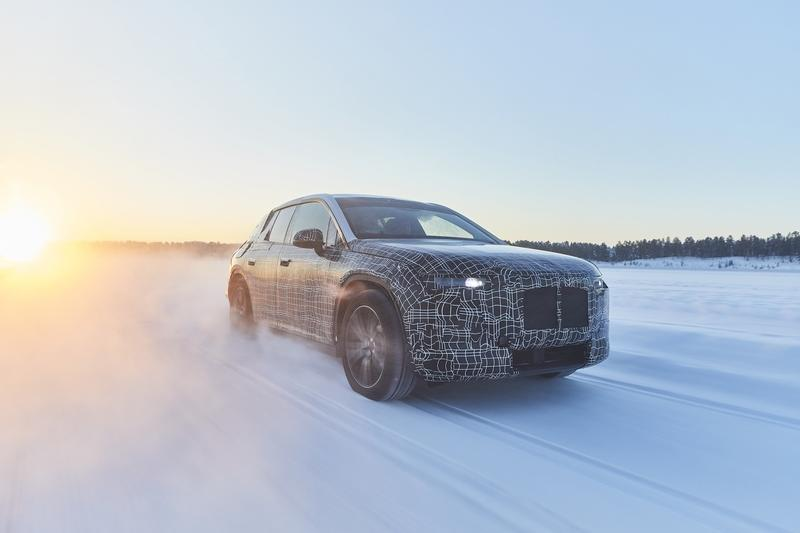 BMW iNext tested at the polar circle