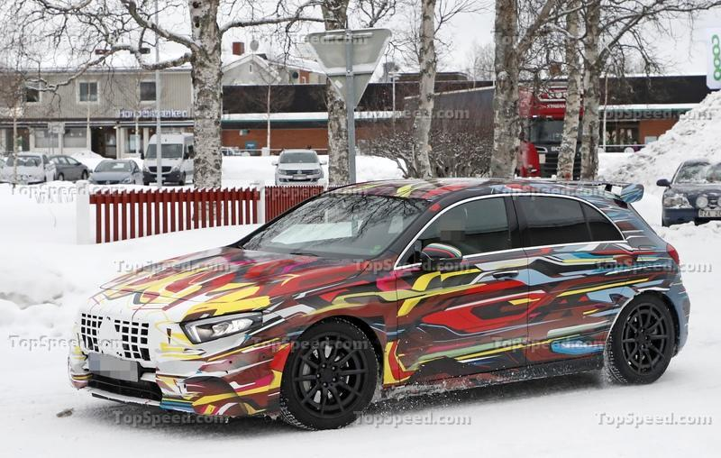 The Geneva-Bound 2020 Mercedes-AMG A45 Could Eclipse 400 Horsepower Exterior Spyshots - image 824911