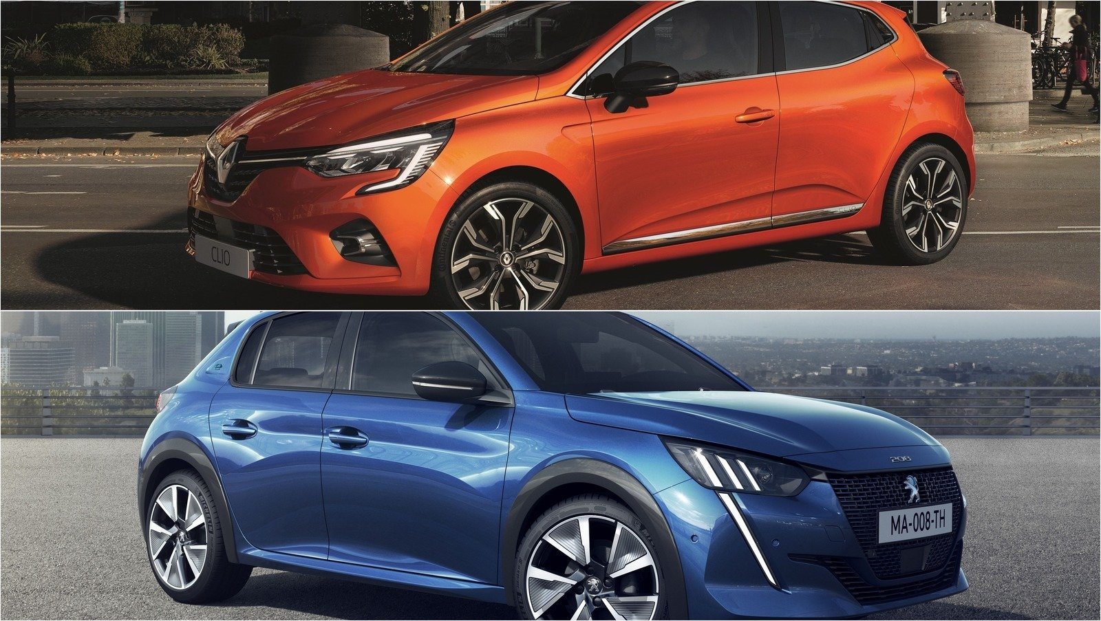 2019 peugeot 208 vs 2019 renault clio pictures photos wallpapers top speed. Black Bedroom Furniture Sets. Home Design Ideas