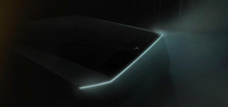 Did Anyone See Tesla's Pickup Truck Being Teased At The Tesla Model Y Launch?