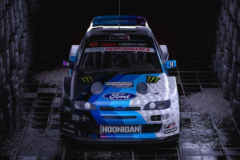 Ken Block Presents His New Ford Escort Ahead Of His World