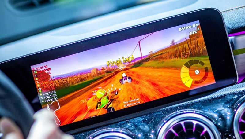 Mercedes Seriously Added A Kart Racing Game to the Infotainment System of the 2020 Mercedes-Benz CLA