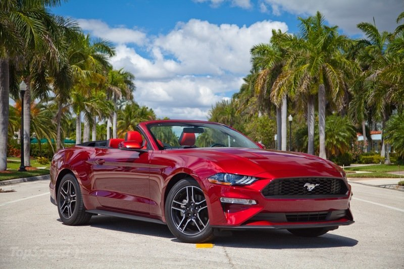 2019 Ford Mustang 4-cylinder Convertible   Top Speed