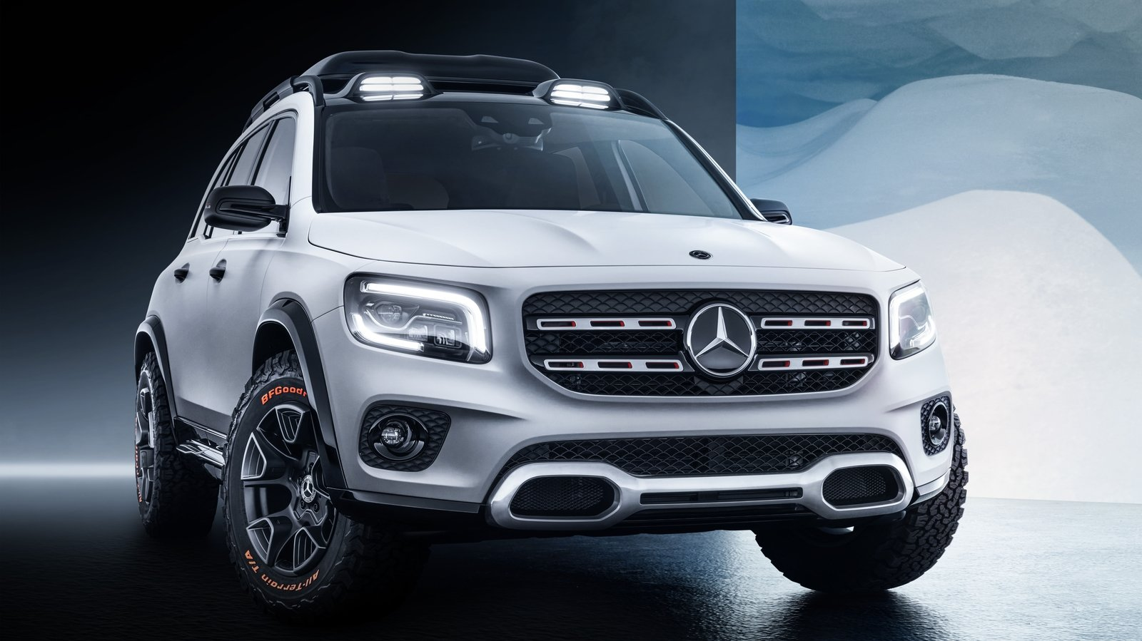 the 2019 mercedes glb concept a new boxy compact suv top speed. Black Bedroom Furniture Sets. Home Design Ideas