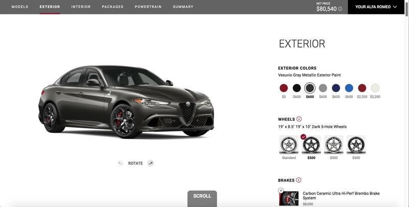 I Configured the 2019 Alfa Romeo Giulia Quadrifoglio NRing Edition and Saved 9 Grand