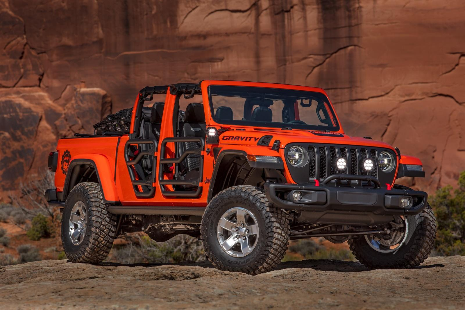 Lifted Jeep Wrangler >> 2019 Jeep Gladiator Gravity Concept Pictures, Photos, Wallpapers. | Top Speed
