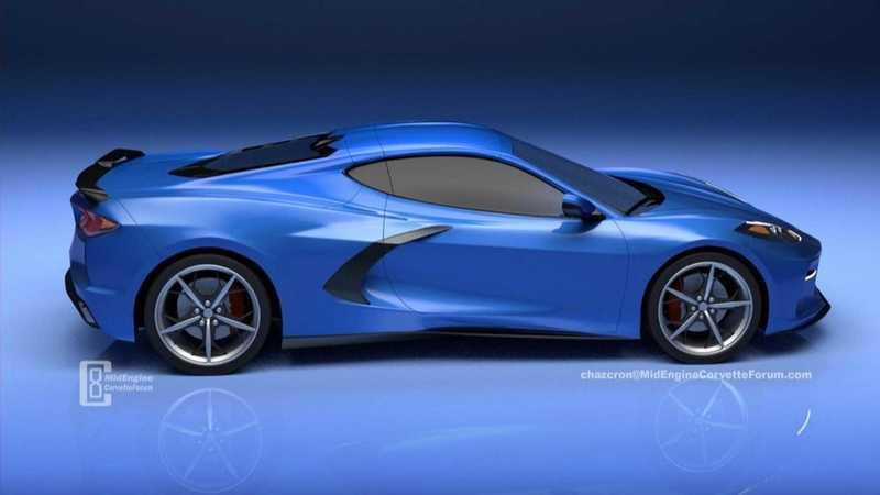New Rendering Of The Mid-Engined 2020 Chevy C8 Corvette ...