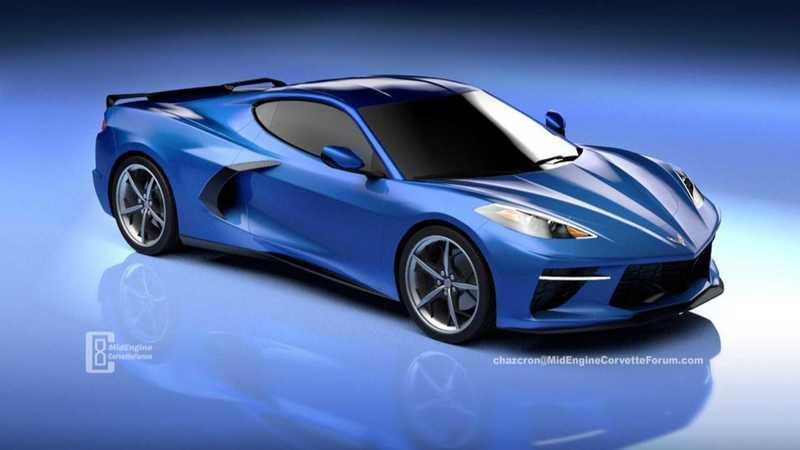 New Rendering of the Mid-Engined 2020 Chevy C8 Corvette Gives Us a More Down-to-Earth Look