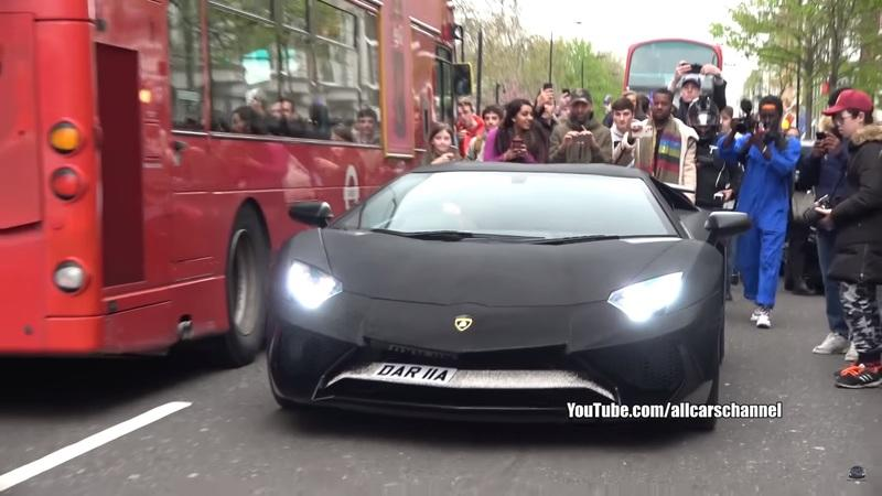 Watch a Lamborghini Aventador LP750-4 Covered in 2 Million Swarovski Crystals Cause Chaos in London