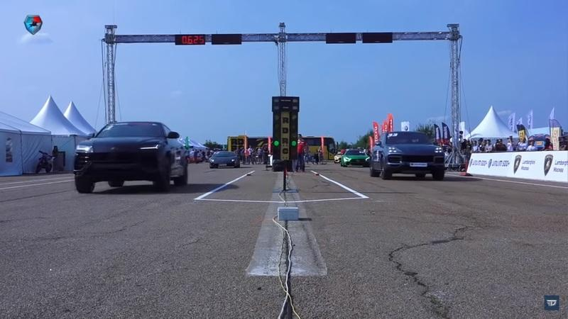 Watch Two Audi Q7s - uhh - We Mean a Lamborghini Urus and Porsche Cayenne Turbo Drag Race