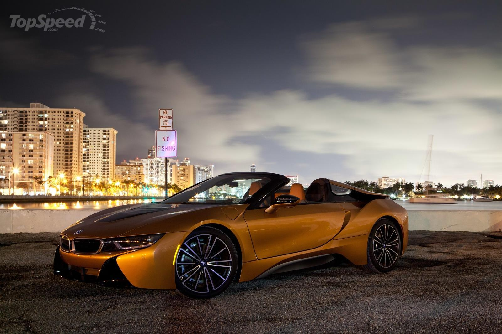 bmw i8 roadster driven speed