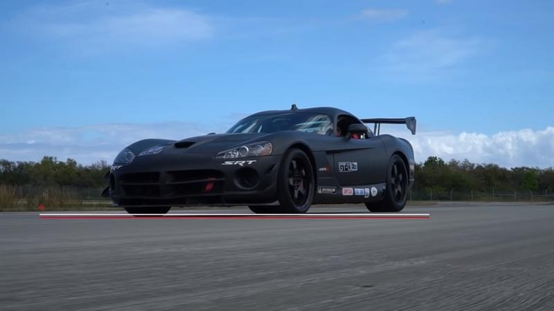 Dodge Viper ACR Race Car Fire Suppression System in Action: Video