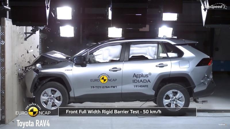 See How the Audi e-Tron, Toyota RAV4, Lexus UX, and VW T-Cross Perform in our Mega Crash Test Video