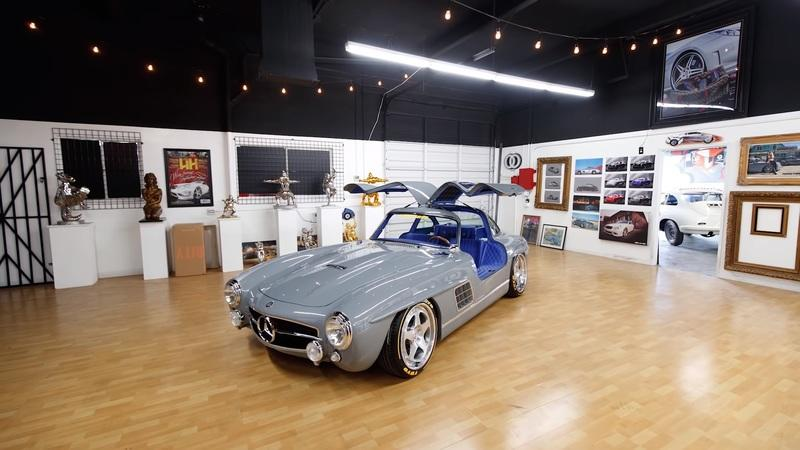 This is not an original Mercedes SL Gullwing, but you can't tell and it packs a modern secret under its hood