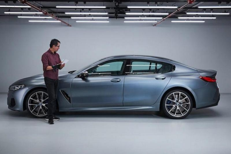 Here's Your First Look at the Uncovered 2020 BMW 8 Series Gran Coupe