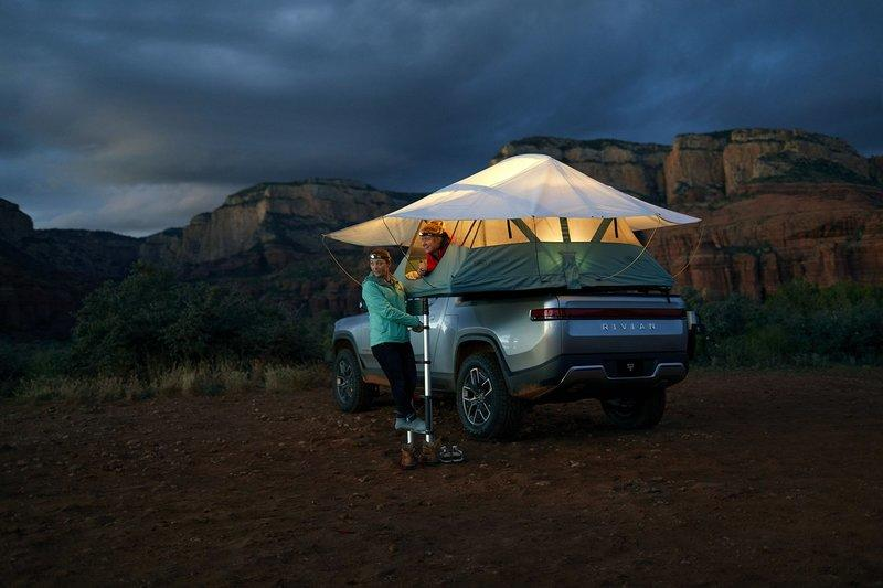The Rivian R1T Isn't Only An EV - It's A Zero-Emission Camper Too