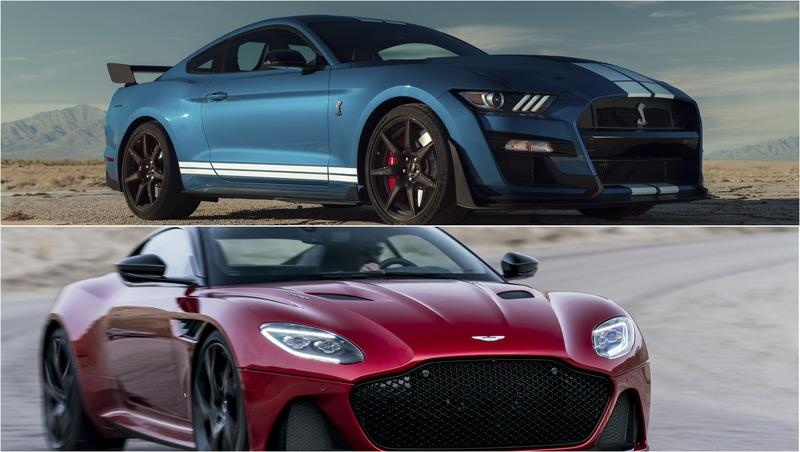 2020 Ford Mustang Shleby GT500 vs 2019 Aston Martin DBS Superleggera