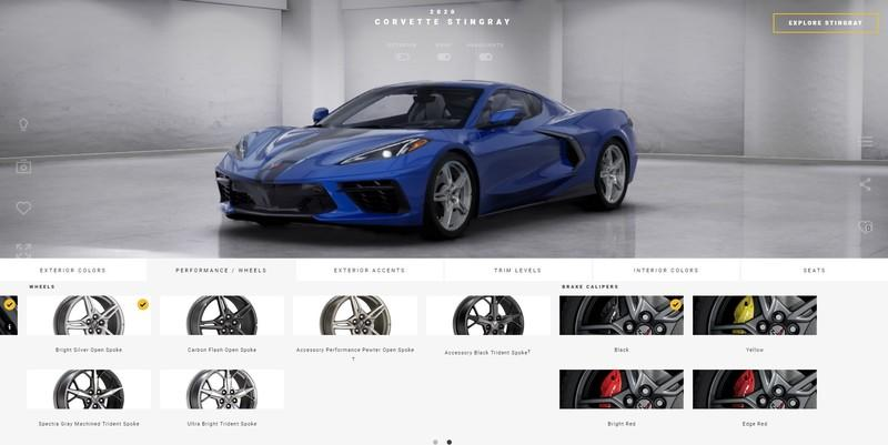 Chevrolet's Online Configurator for the 2020 Corvette C8 Stingray is an Exercise in Patience