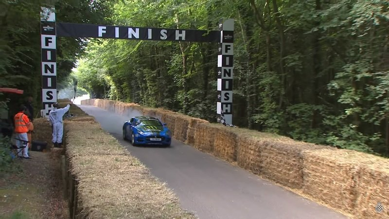 Jaguar F-Type Shows Off at Goodwood, Gets in Trouble Because Of It