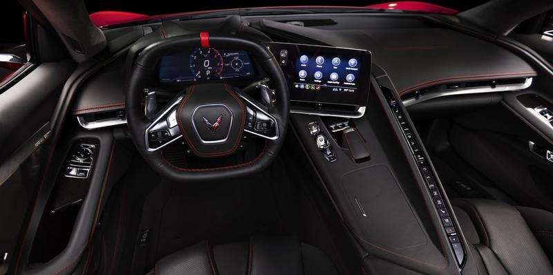 The New 2020 Chevy C8 Corvette's interior is befitting of a supercar, even though it will start at under $60,000