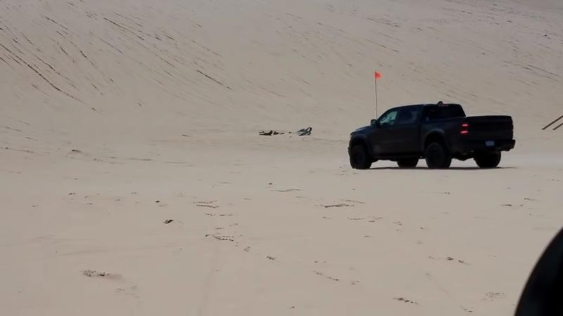 RAM Got Caught Pushing the Hellcat-Powered Rebel TRX Across Sand Dunes