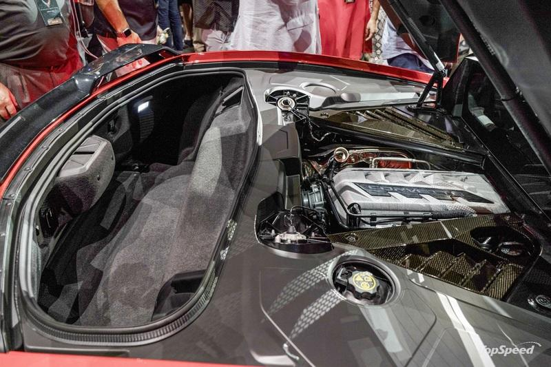 The 2020 Chevy C8 Corvette Has Specific Roof Mounts in the Trunk for Safe Storage