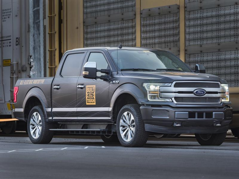 Check Out the Ford F-150 Electric As It Plays In The Snow