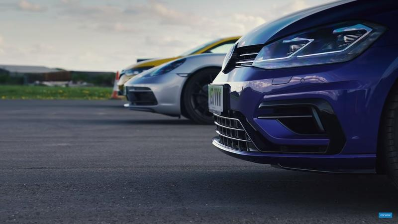 Watch a Volkswagen Golf R Go Head-to-Head With a Porsche Boxster GTS and a Renault Megane Trophy RS