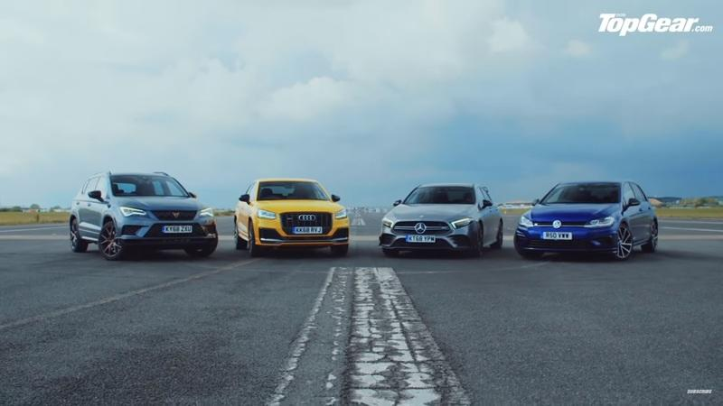 Can the Audi SQ2 and Cupra Ateca Performance SUVs Keep Up With the Volkswagen Golf R and Mercedes-AMG A35 Hatchbacks?