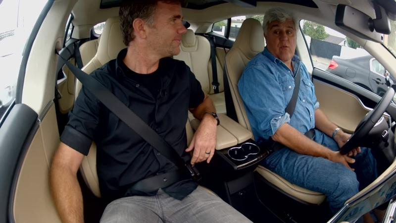 Jay Leno Has a Love Affliction for Tesla and Electric Cars