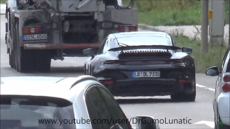 Someone Caught the 2020 Porsche 911 Turbo and 2020 Porsche Taycan on Camera
